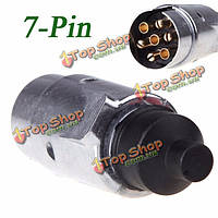 Тироль 7pin трейлер плагин 7pole круглый штырь разъема проводки 12v Фаркоп буксировки прицепа плагин конца
