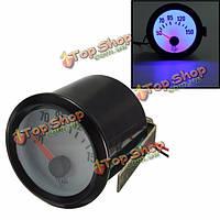 """Универсальный автомобиль черного масла Temperture калибра 50-150 ° C тахометр синий LED свет 2"""" 52мм"""