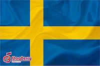 Флаг Швеции 80*120 см., искуственный шелк