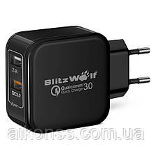 BlitzWolf ® BW-S6 Зарядное устройство BlitzWolf  QC3.0 2.4A 30 Вт Qualcomm