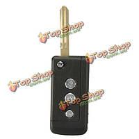 3 БТН флип складной дистанционный ключ чехол для Nissan Frontier муранское неподрезанные лезвием