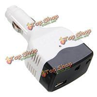 Автомобильное зарядное устройство инвертора адаптер питания постоянного тока 12v 24v для переменного тока преобразователя USB прямой выход