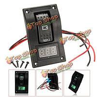 5-30В цифровой вольтметр батареи тест панели тумблер DPDT/двухпозиционный-на