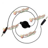 3.5мм между мужчинами Окс выдвижная стерео MP3 аудио кабели адаптера