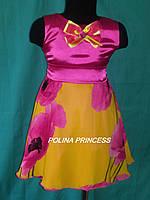 Детское платье в розовом цвете