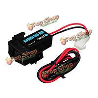 12v 3A двойной порт USB разъем питания мобильного телефона планшет GPS зарядное устройство для автомобиля Nissan