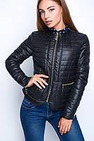 Женская осенняя короткая куртка на молнии