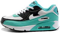 Женские кроссовки Nike Air Max 90 (найк аир макс 90) бирюзовые
