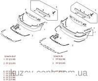 Бампер задний на Hyundai Sonata, Хундай Соната -07