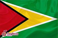 Флаг Гайаны 80*120 см., искуственный шелк