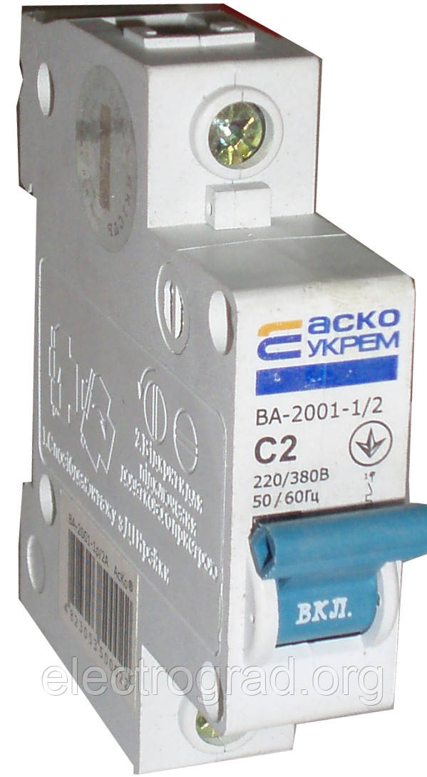 Авт.выкл. ВА-2001 1р  2А  (АСКО)