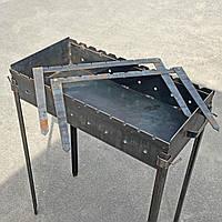 Подставка для шампуров из черного металла