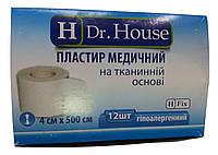 Лейкопластырь Dr.House катушка тканевая основа 4*500 см