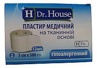 Лейкопластырь Dr.House катушка тканевая основа 5*500 см