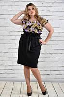 Женское Платье с фиолетовыми цветами 0328-3(42-72)