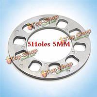 Тироль универсального колесного разделительные 5holes 5мм толщиной алюминиевые диски адаптер для 5lug