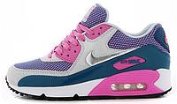 Женские кроссовки Nike Air Max 90 (найк аир макс 90) фиолетовые