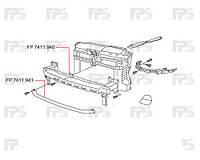 Шина, усилитель бампера переднего на Volkswagen Golf, Фольксваген Гольф, Фольксваген Гольф 6, VI 09-
