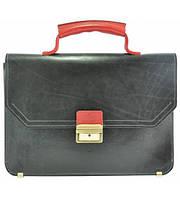 Портфель мужской кожаный Grande Pelle черный , фото 1