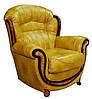 Кожаное кресло с резьбой Джове (90 см), фото 3