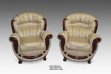 Кожаное кресло с резьбой Джозеф, фото 2