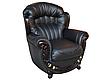 Кожаное кресло с резьбой Джове (90 см), фото 2