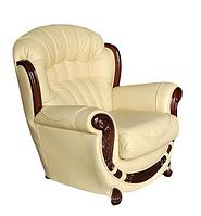 Кожаное кресло с резьбой Джове (90 см)