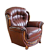 Кожаное кресло с резьбой Джозеф, фото 3