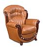 Кожаное кресло с резьбой Джове (90 см), фото 8