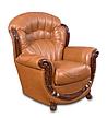 Кожаное кресло с резьбой Джозеф, фото 4