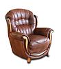 Кожаное кресло с резьбой Джове (90 см), фото 9