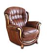 Кожаное кресло с резьбой Джозеф, фото 5