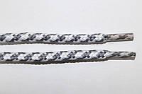 Шнурки 5мм плотные св.серый+белый, фото 1