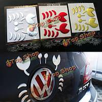 Автомобильные наклейки из ПВХ гибкие пластиковые 3D забавный краб украшение автомобиля стикер