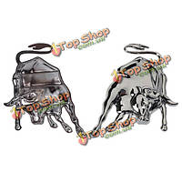Автомобильный металл этикеток подписывает стереоскопическое 3-е серебро золота образца коровы