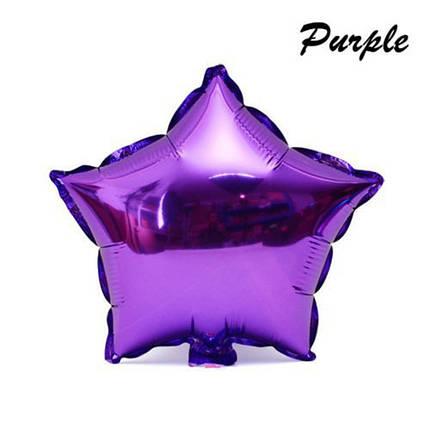 Фольгированный шар в форме звезды, фиолетовый, фото 2