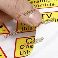 6шт автомобиль такси стикер переводная картинка признаки видеонаблюдения работает в этом автомобиле