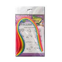 Бумага для квиллинга неон 7 цветов, 15 полосок, 7 мм