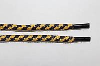 Шнурки 5мм желтый+т.синий, фото 1