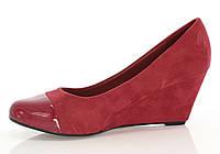 Женские туфли на танкетке (эко кожа- замша искусственная )