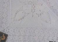 Скатерть на круглый стол 160хQ KAYAOGLU Kamelya белая