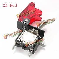 Красный автомобиль Обложка LED spst кулисный переключатель переключатель 12v 20a на Выкл