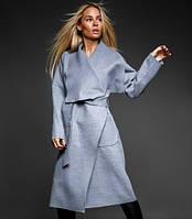 "Легкое кашемировое пальто ""на запах"" S M L XL"