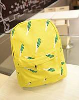"""Молодежный модный рюкзак """"Лук"""", желтый"""