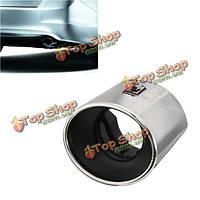 Глушитель кончик хвоста овальные трубы хром из нержавеющей стали для Honda Accord 08-12