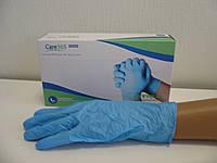 Перчатки нитриловые смотровые нестерильные без пудры текстурированые на пальцах