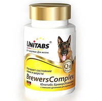 Витамины Юнитабс БреверсКомплекс, с пивными дрожжами для собак крупных пород, 100 табл.