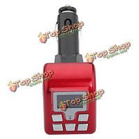 12В БТ версии v2.0 MP3 беспроводной FM модулятор БФ-805 красный