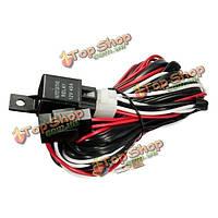 12v 300Вт 40а реле предохранитель Жгут проводов для любого 5-контактный LED кулисный переключатель света
