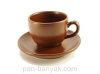 014 Чашка чайная с блюдцем 250мл керамика Ceramic
